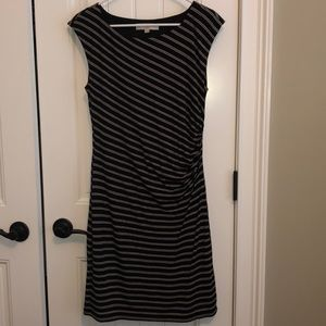 Loft black striped dress
